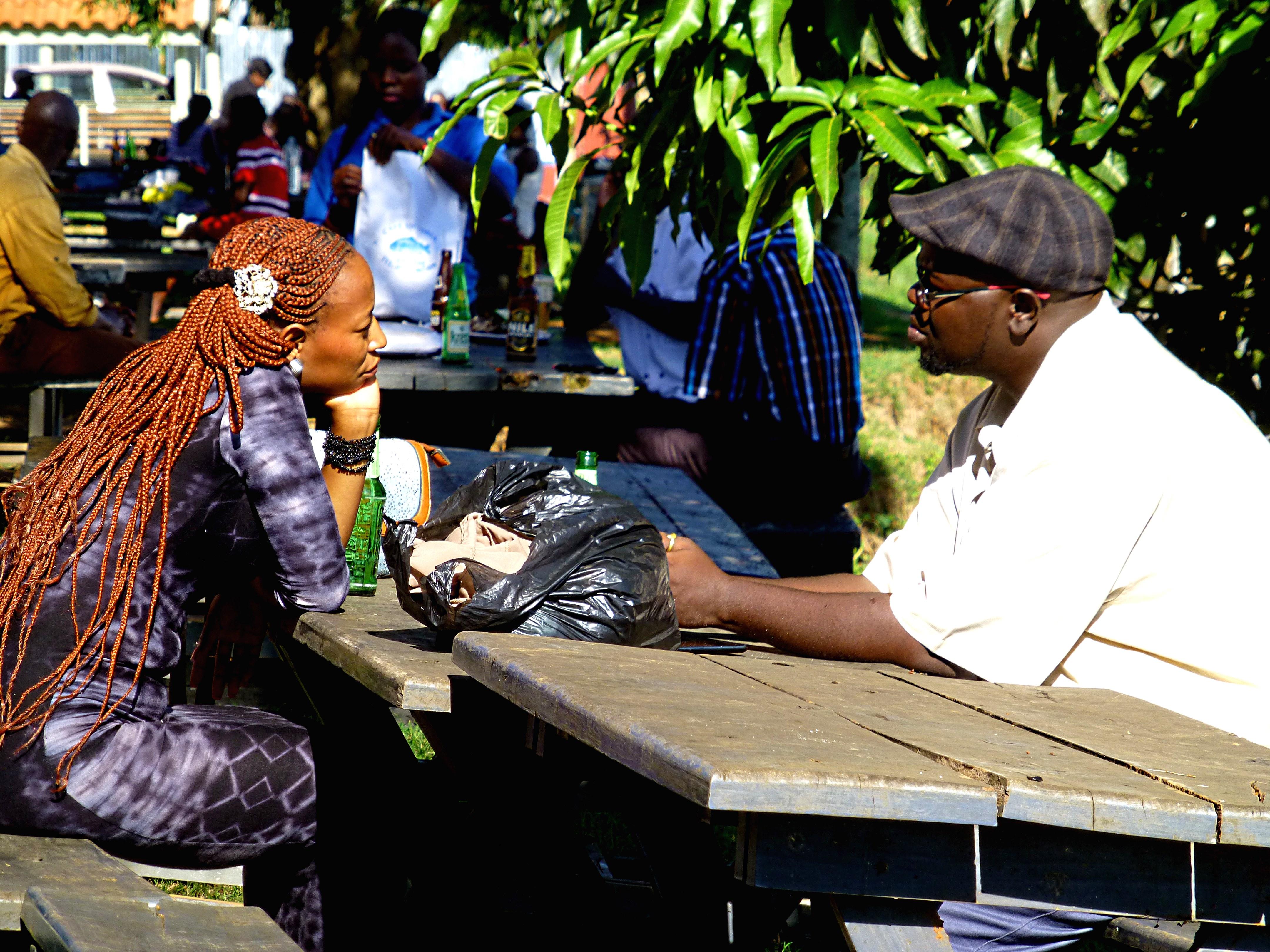Einzelne Weiße in Uganda